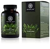 NATURE LOVE Bio Curcuma - 240 Kapseln. 4540mg Kurkuma + schwarzer Pfeffer je Tagesdosis. Curcumin & Piperin. Laborgeprft. hochdosiert, vegan, hergestellt in Deutschland