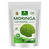 MoriVeda Moringa Oleifera Blattpulver 250g, PREMIUM PLUS I Enthlt Moringa, hochdosiertes Vitamin C, Proteine & Aminosuren in Ayurveda Spitzen-Qualitt I Vegan & Glutenfrei I 1 x 250g