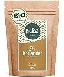 Koriander Bio gemahlen 250g - Hochwertigste Bio-Qualitt aus dem Mittelmeerraum - 100% Bio-zertifiziert in Deutschland (DE-KO-005) - Perfekt zu indischen und asiatischen Gerichten