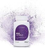 Natrea MSM Kapseln | vegan | 99,9% reines, hochdosiertes, organisches Schwefel Pulver 150 Kapseln  800mg MSM (Methylsulphonylmethan) ca. 75 Tage Anwendung