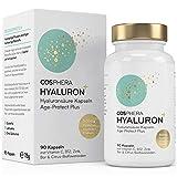 Hyaluronsure Kapseln - Hochdosiert mit 500 mg pro Kapsel. 90 vegane Kapseln im 3 Monatsvorrat - 500-700 kDa - Angereichert mit Zink, Vitamin C, B12 & Bioflavonoiden - Fr Haut, Anti-Aging und Gelenke
